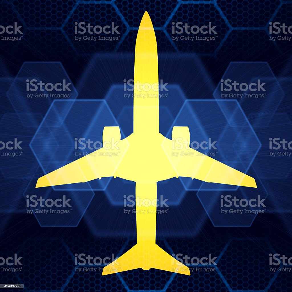 Airplane shape stock photo