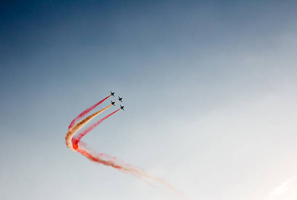 airplane show - airshow stock photos and pictures