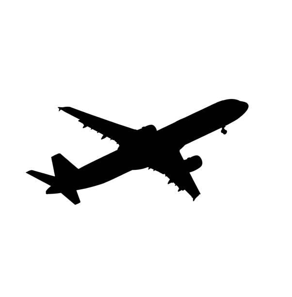 Flugzeug-Silhouette  – Foto