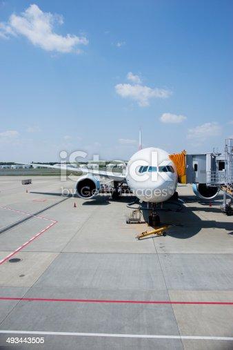 Airplane sky and sunny