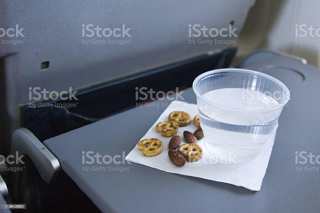 Airplane Snack stock photo