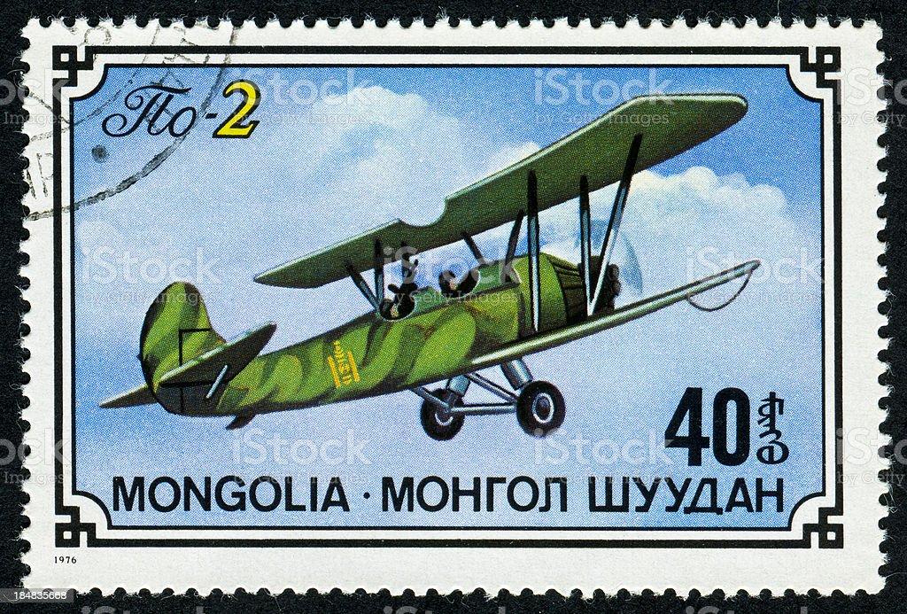 Airplane Stamp stock photo
