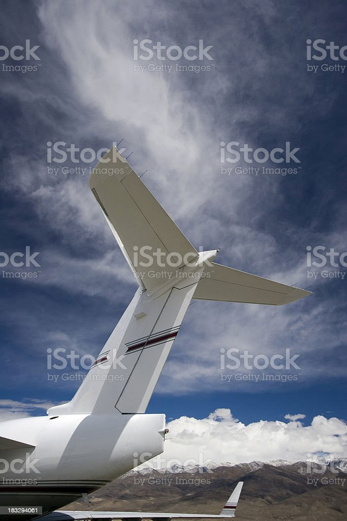 Airplane Tail & Blue Sky-2 royalty-free stock photo