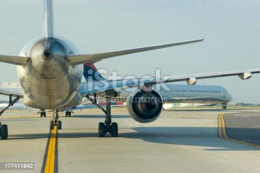 istock Airplane Tail Close 177411642