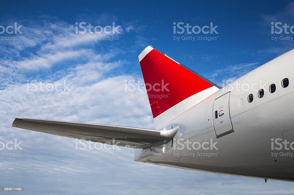 Airplane Tail stock photo