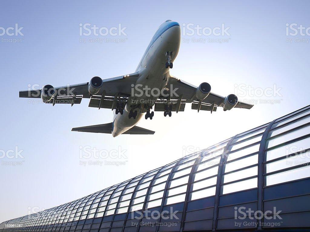 Airplane take off royalty-free stock photo