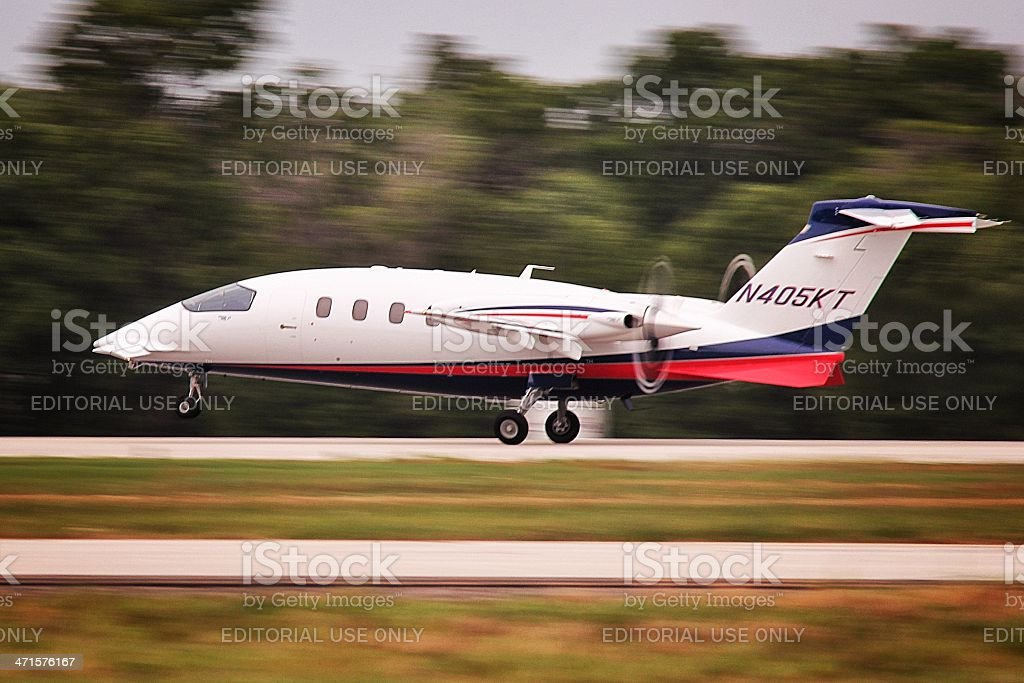 Airplane Takeoff royalty-free stock photo