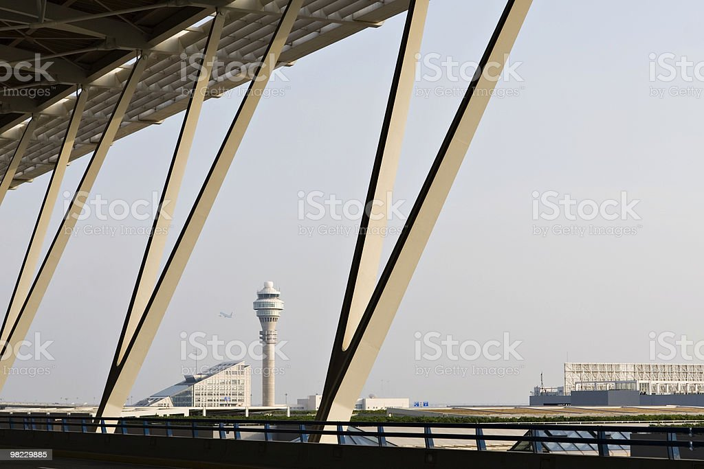 airplane taking off from airport royalty-free stock photo