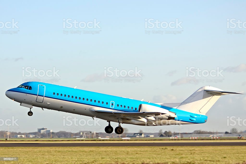 Airplane taking off - Royalty-free Air Vehicle Stock Photo