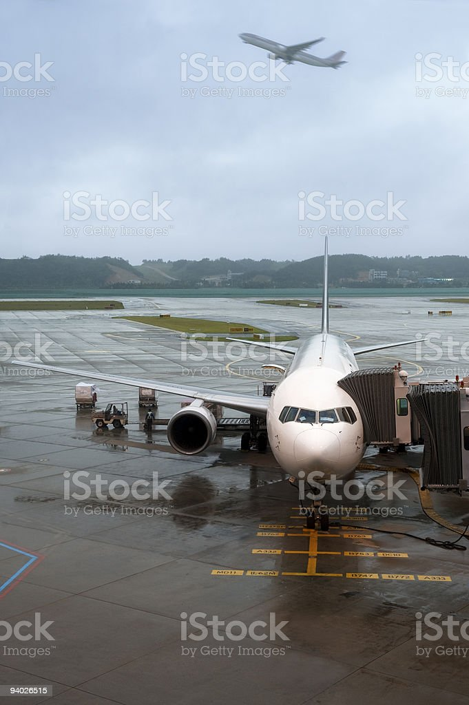 Airplane terminal royalty-free stock photo