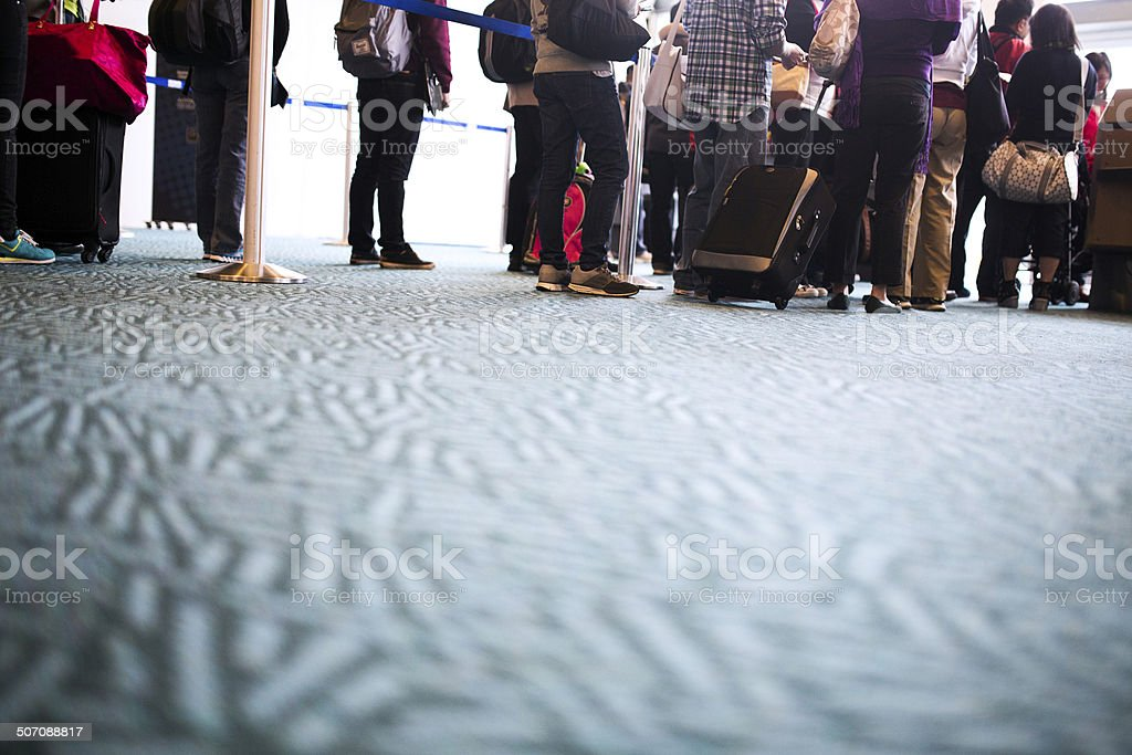 Airplane Ticket Check stock photo