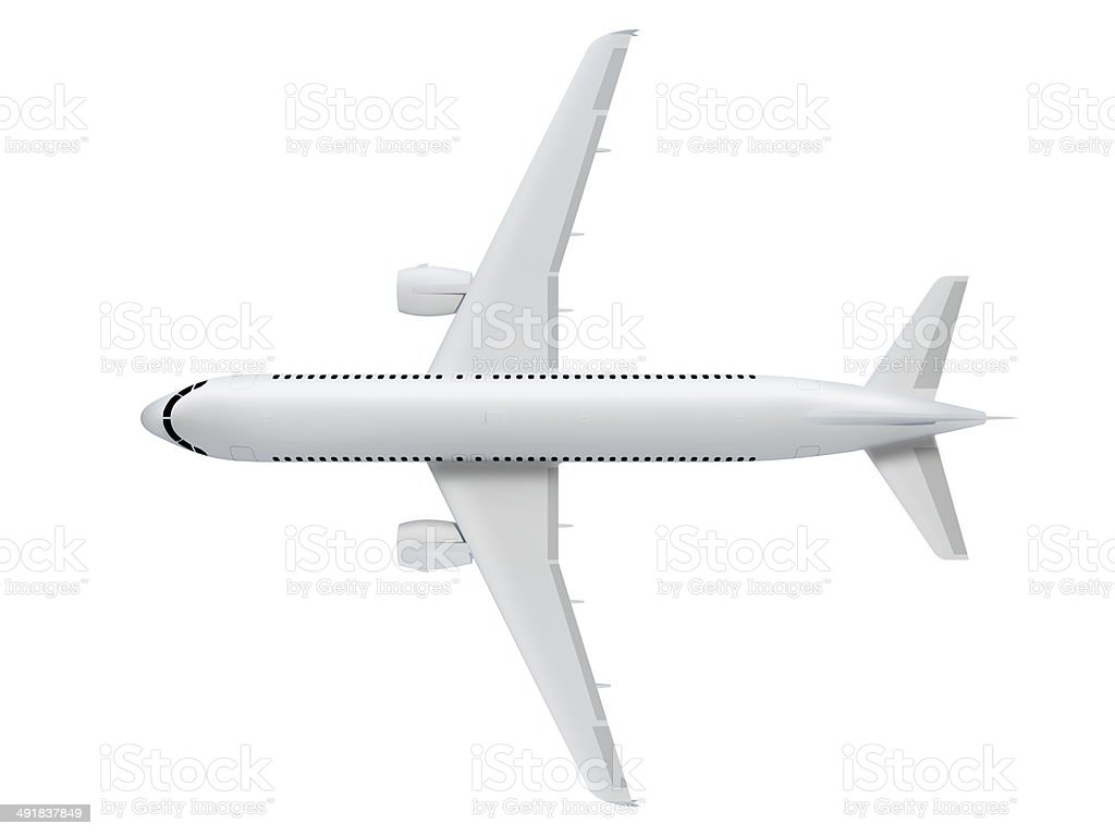 Airplane Top View stock photo