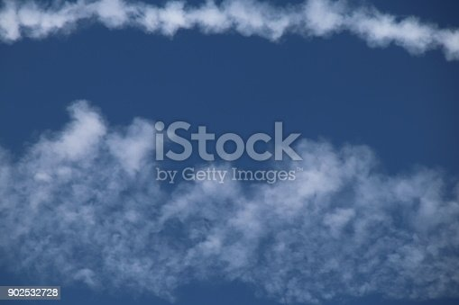 589538650 istock photo Airplane trace, Vapor Trail, in the blue sky 902532728