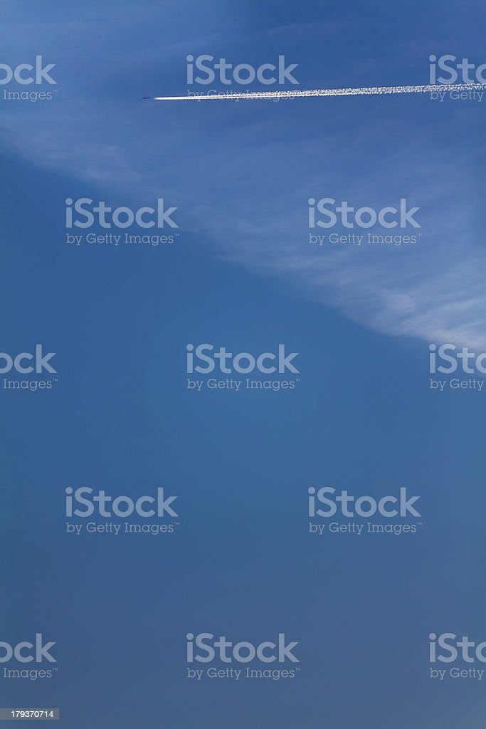 Airplane trail II royalty-free stock photo