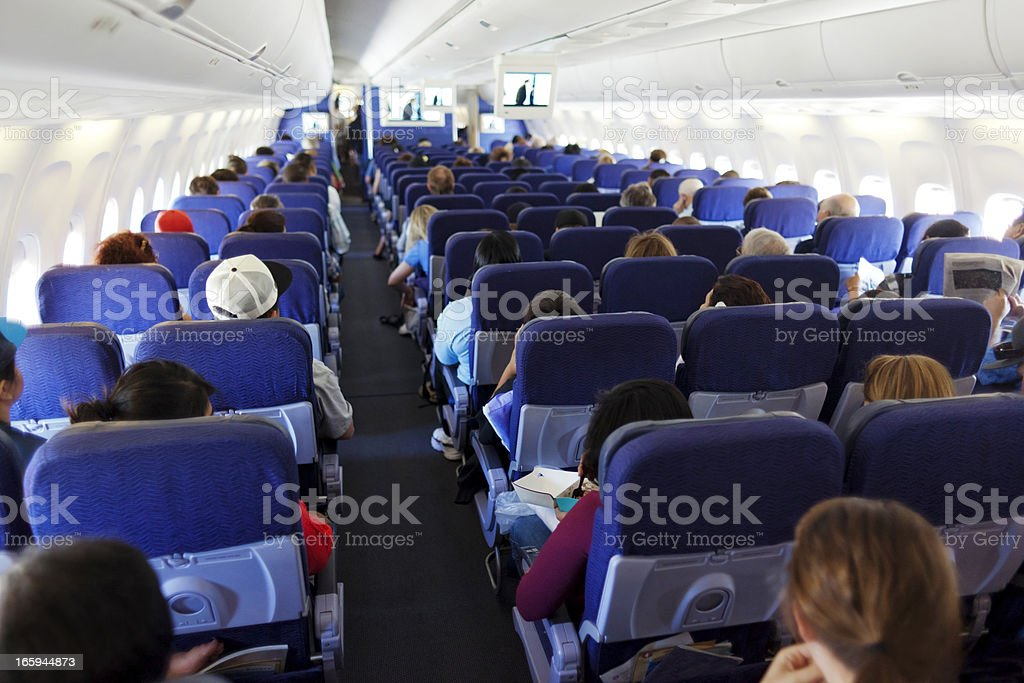 Airplane Travel stock photo