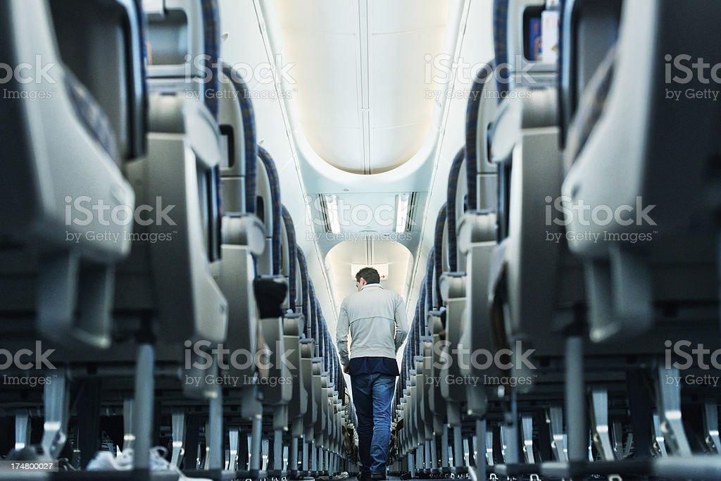 Airplane travel royalty-free stock photo