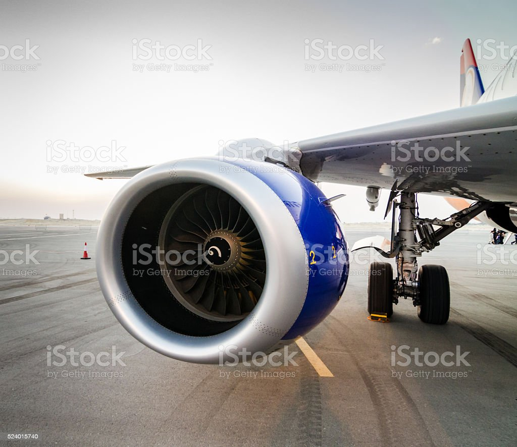 Airplane Turbine Detail stock photo