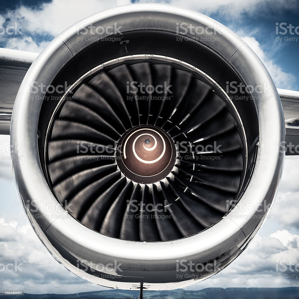 Airplane Turbine stock photo