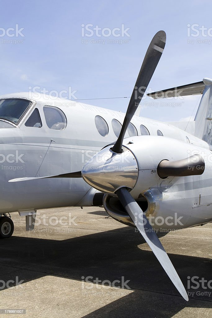Airplane Turboprop Engine royalty-free stock photo