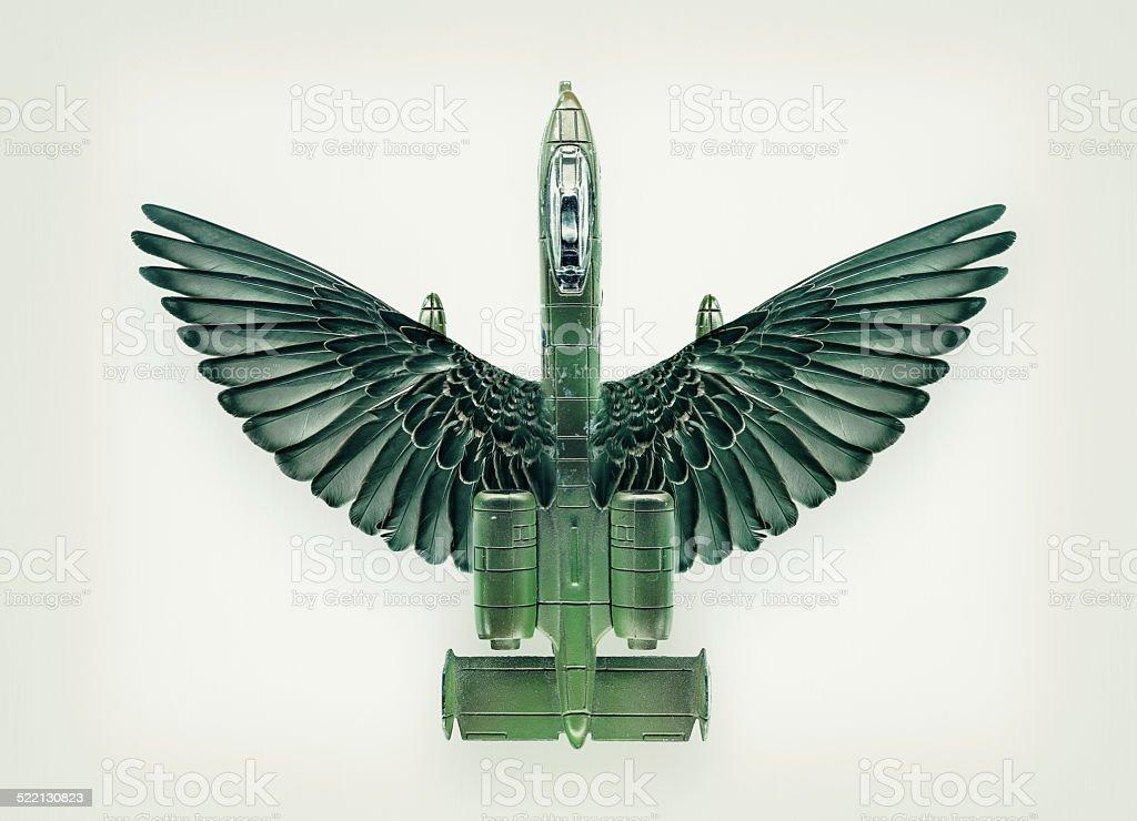 Airplane War Mutation stock photo