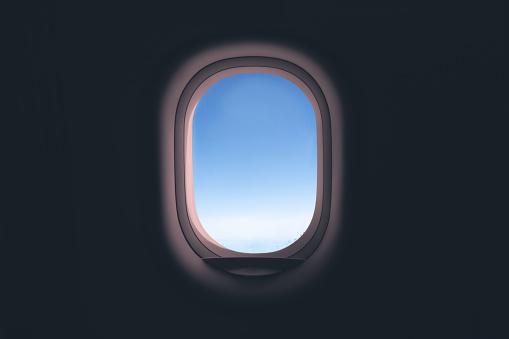 Airplane window.