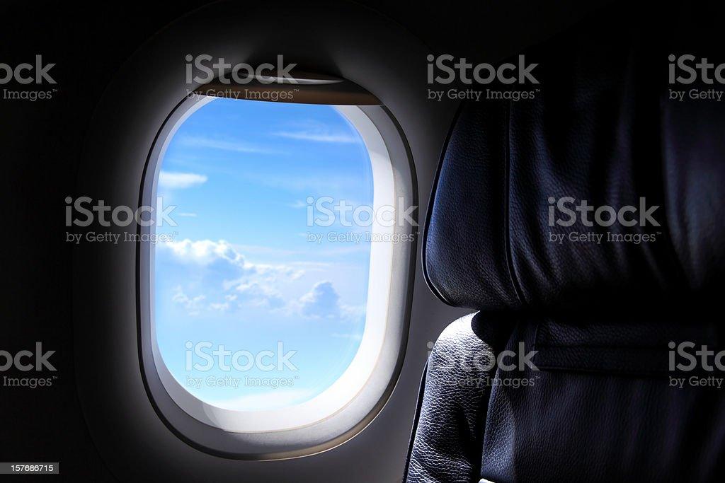airplane window stock photo