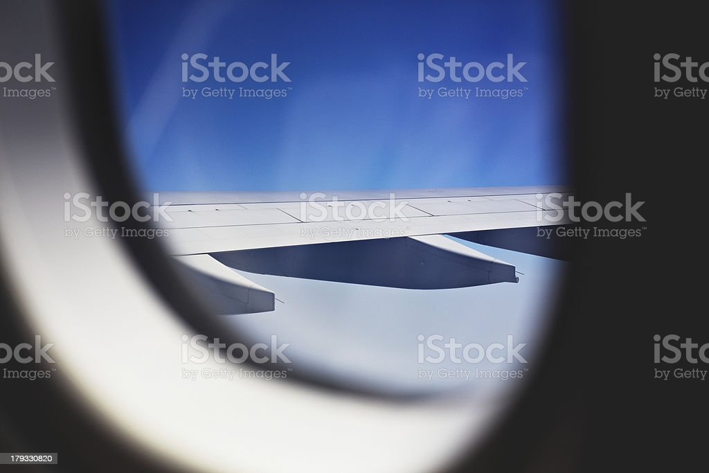 Airplane window royalty-free stock photo