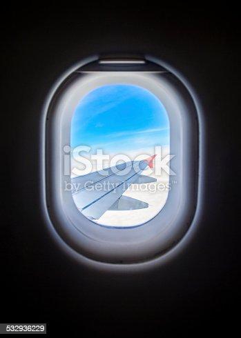 istock Airplane window 532936229