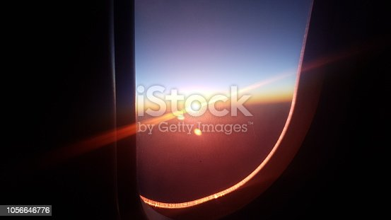 Window seat with sun beam.