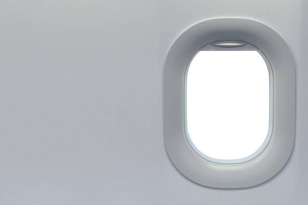 Flugzeugfenster. Reise-und Tourismusflitzbegriff. Raum für Text. – Foto