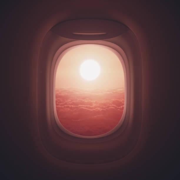 Flugreise-Fenster – Foto