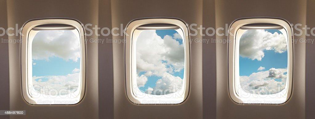 Flugzeug-Fenster – Foto
