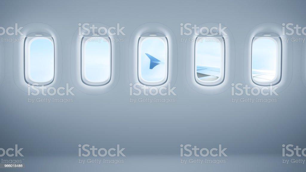 Fenêtres d'avion avec espace copie - Photo