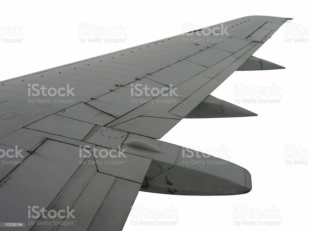 Airplane Wing Isolated royalty-free stock photo