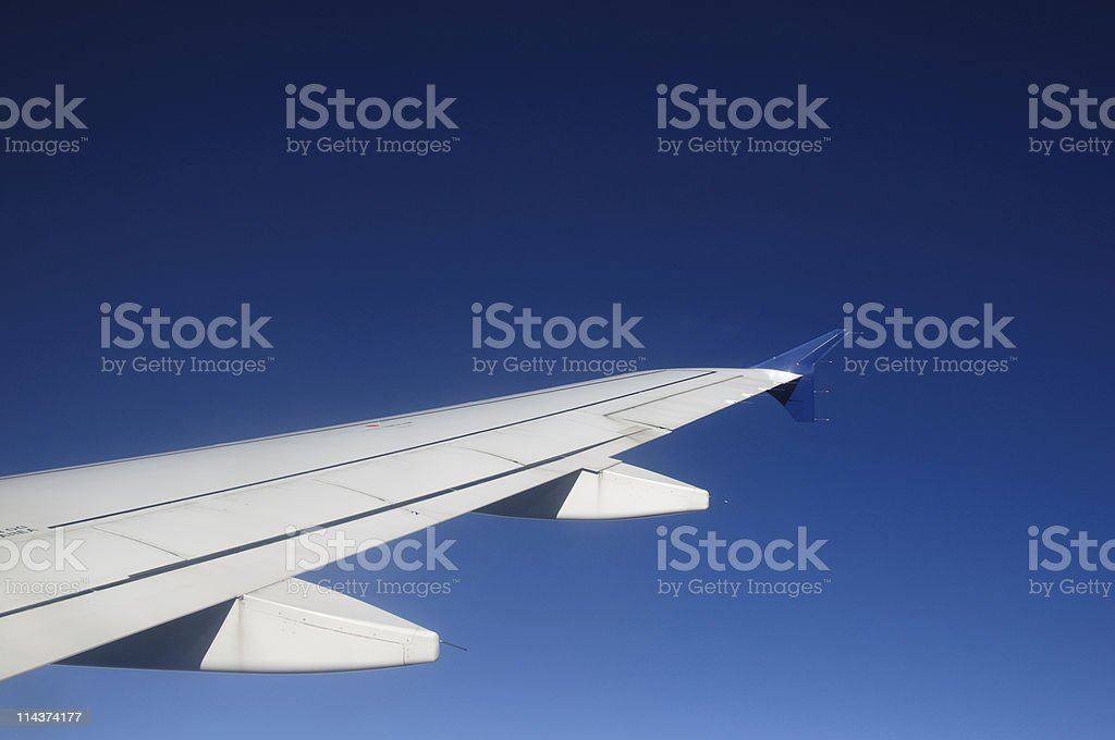 Airplane wing royalty-free stock photo