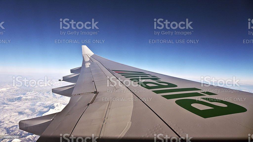 Ala di aeroplano - foto stock