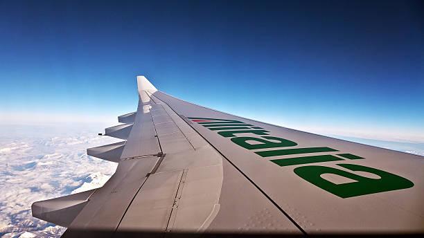 Asa de aeronave - foto de acervo