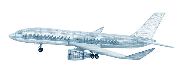 Airplane wire model stock photo