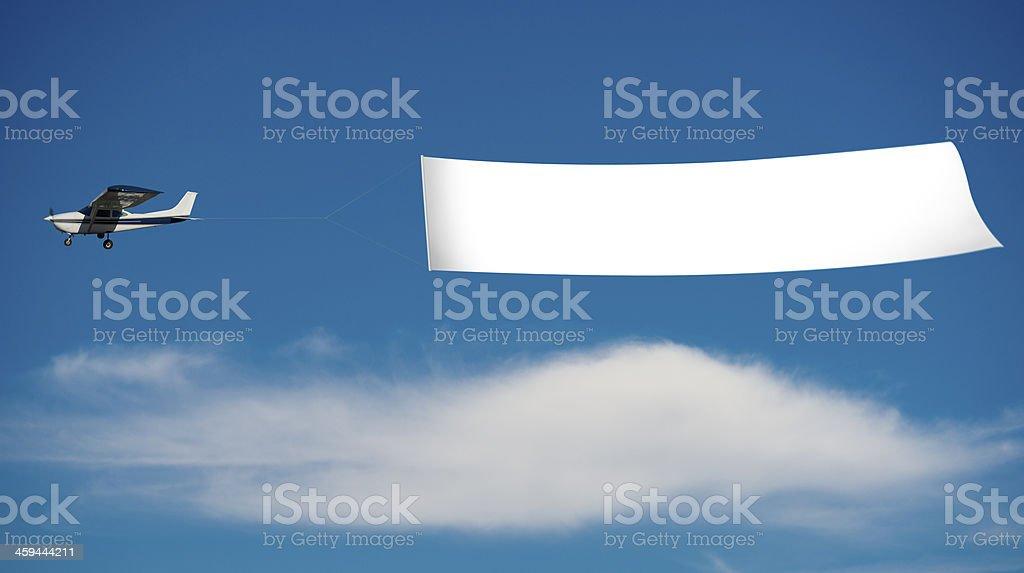 Avion avec bannière - Photo