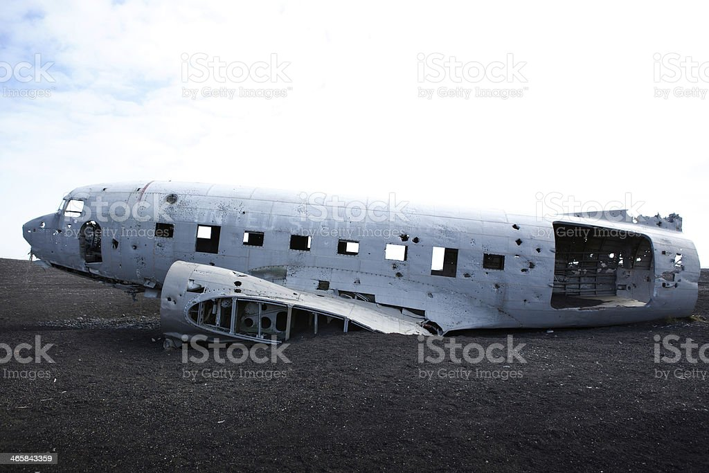 Airplane Wreck - Solheimasandur Iceland Plane Crash royalty-free stock photo