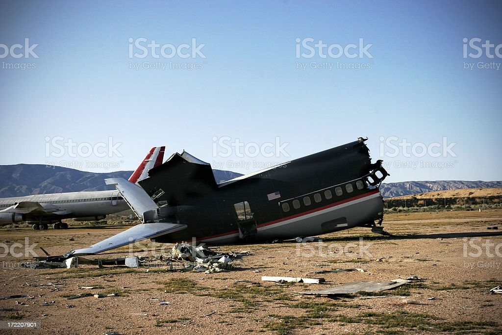 Airplane! Wreckage royalty-free stock photo