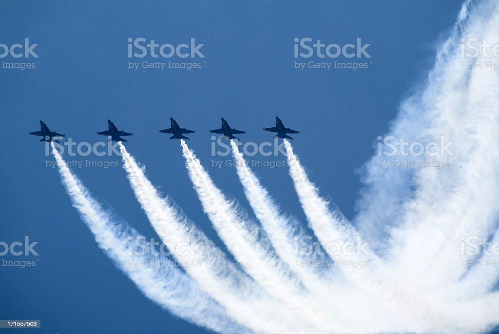 Airplanes In Formation stock photo