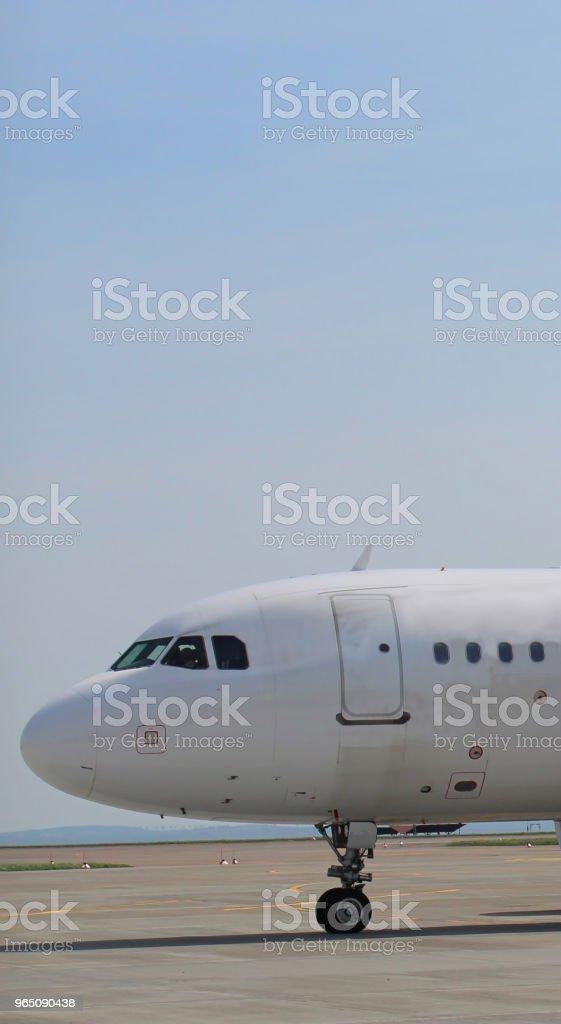 Airplanes in the airport zbiór zdjęć royalty-free