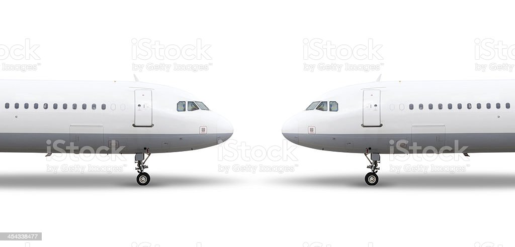 Airplanes nose, isolated on white, clipping path royalty-free stock photo