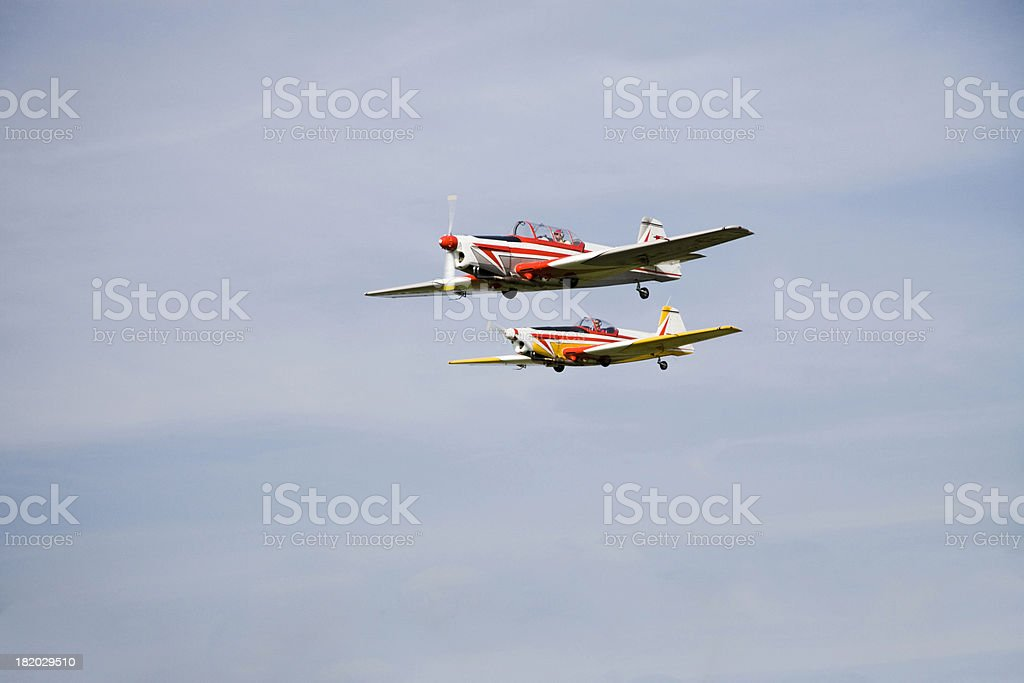 airplanes stunt show royalty-free stock photo