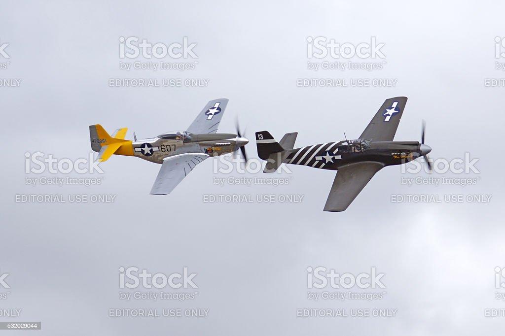Aviones Vendimia De La Segunda Guerra Mundial P51 Mustang Guerreros ...