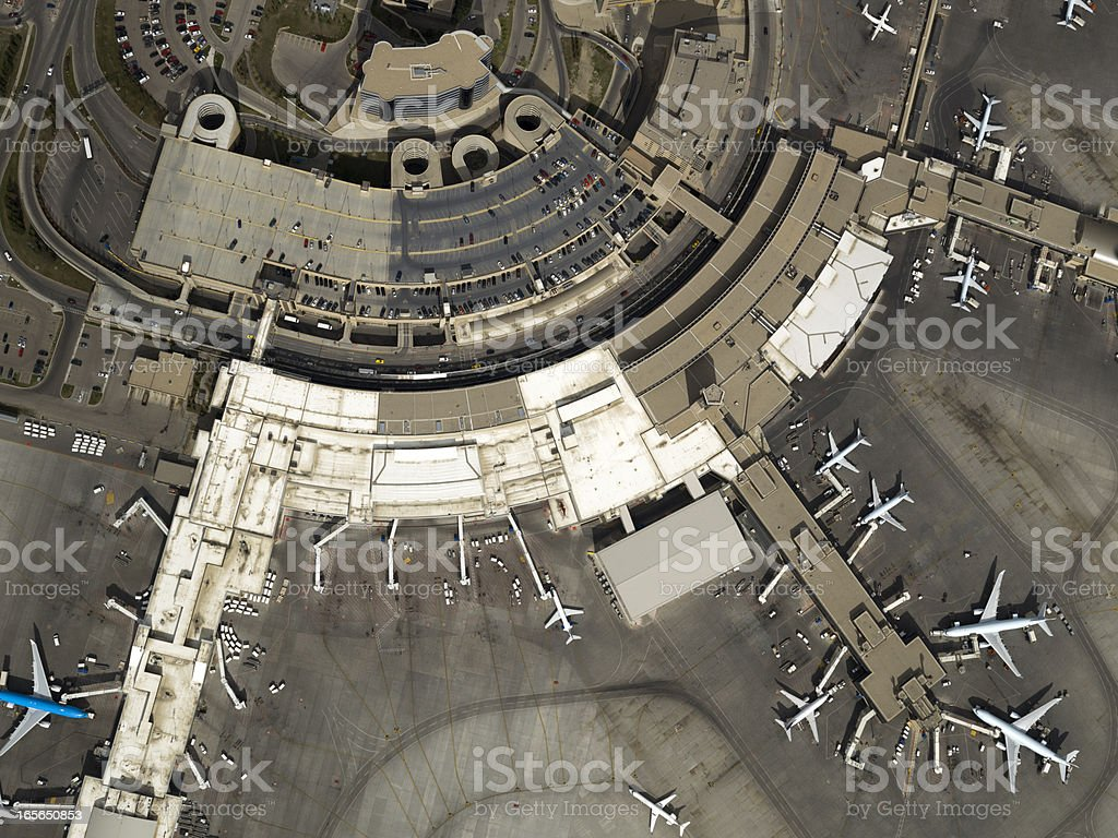 Airport Aerial Photo royalty-free stock photo