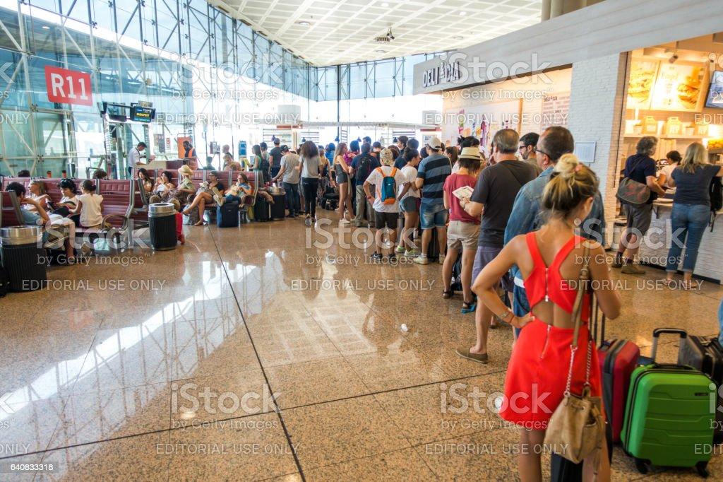 Airport aeroport del prat barcelona spain passengers stock photo