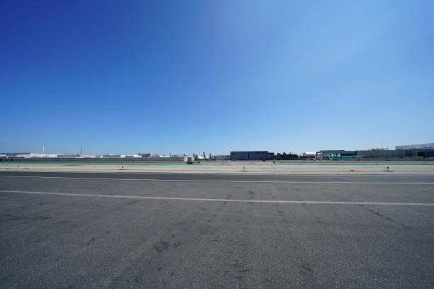 Airport  Area - Hawthorne Municipal Airport stock photo