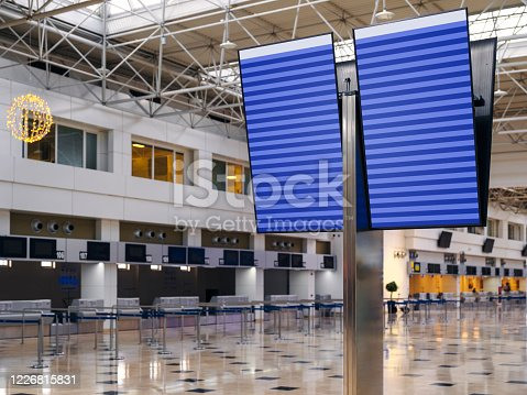 Airport, Airplane, Airport Departure Area, Commercial Airplane, Computer Monitor